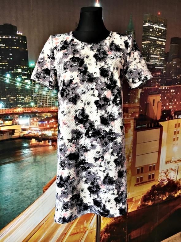 george sukienka pikowana kwiaty pastelowa hit 38 M...