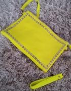 torebka neonowa limonka kopertówka...