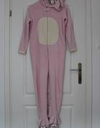 kombinezon różowy królik dziecięcy piżama pidżama...