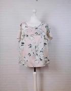14 42 XL Saint Tropez Plus Size Pudrowy róż bluzeczka w kwiaty...