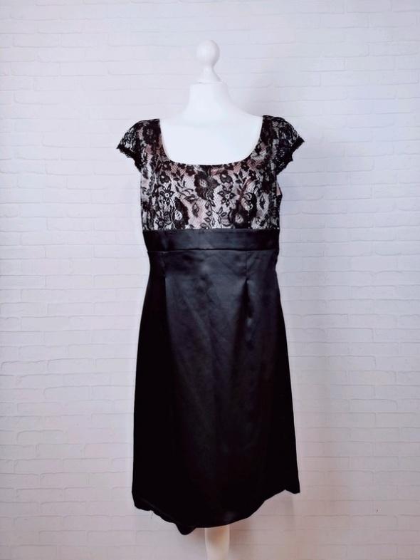 16 44 2XL XXL George Plus Size Czarna pudrowy róż sukienka...