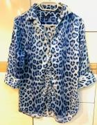 Jedwabna bluzka print zwierzęcy 100 silk...