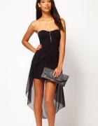 Nowa czarna sukienka elastyczna SML...