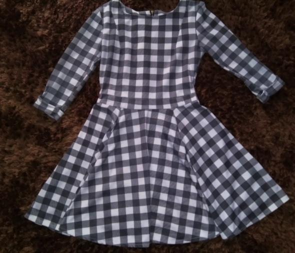Sukienka krata rozkloszowana 34 XS