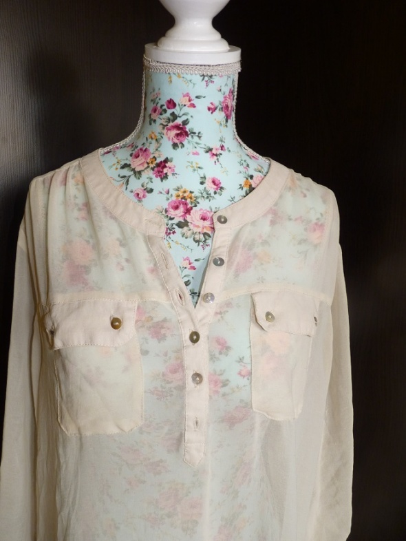 Kremowa mgiełka koszula