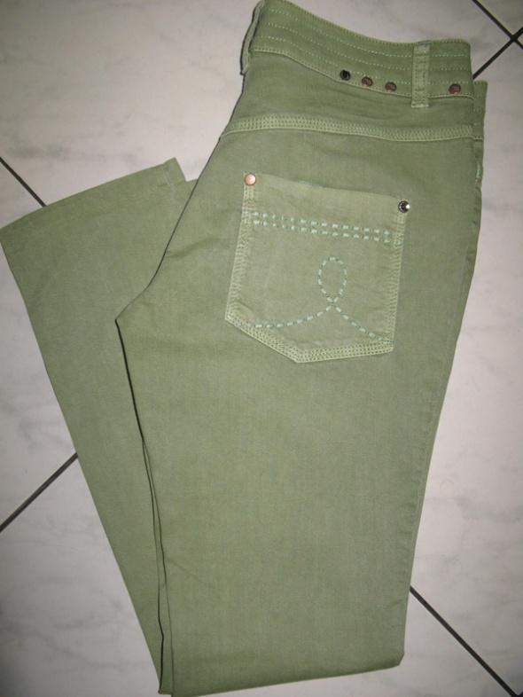 NEXT zielone spodnie jeansy damskie roz 36