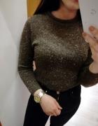 Klasyczny melanżowy pół golf sweterek minimalizm insta tumblr...