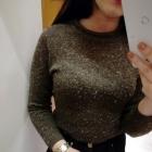 Klasyczny melanżowy pół golf sweterek minimalizm insta tumblr