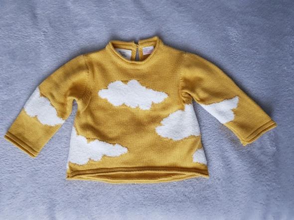 sweterek miodowy ZARA r74 jak nowy