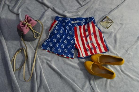 SPODENKI SAFIR CLUB FLAGA USA ROZMIAR S...