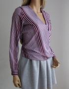 bluzka koszula next 38 paski kopertowa jak nowa...