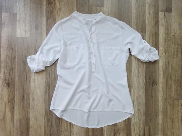 biała bluzka mgiełka koszula luźna lekka 40 L