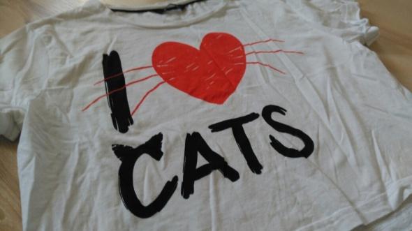 Koszulka crop top House I love cats
