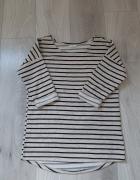 Sweter w paski bluza basic XS S...