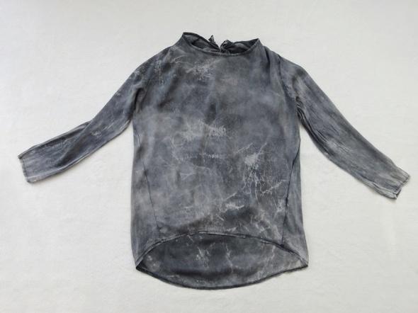 szara lekka zwiewna asymetryczna bluzka 40 L