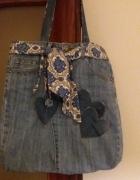 torba z dżinsu upcycling...