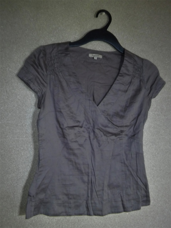 Brązowa bluzka z krótkim rękawem 36 Reserved...