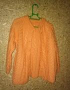 Pomarańczowy rozpinany sweterek 110 116 cm 4 5 lat...