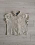Bluzka w kratę zapinana M L kieszonka kołnierz retro vintage...