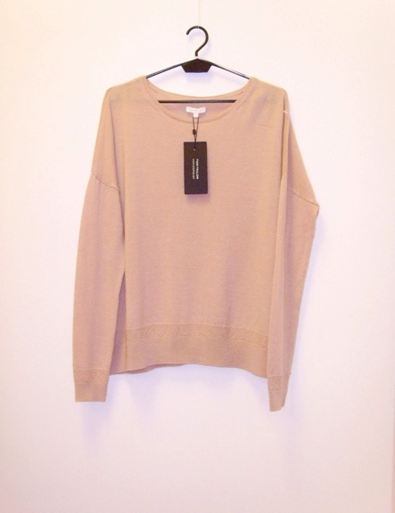NOWY metka Tom Tailor sweter oversize nude pudrowy 36...