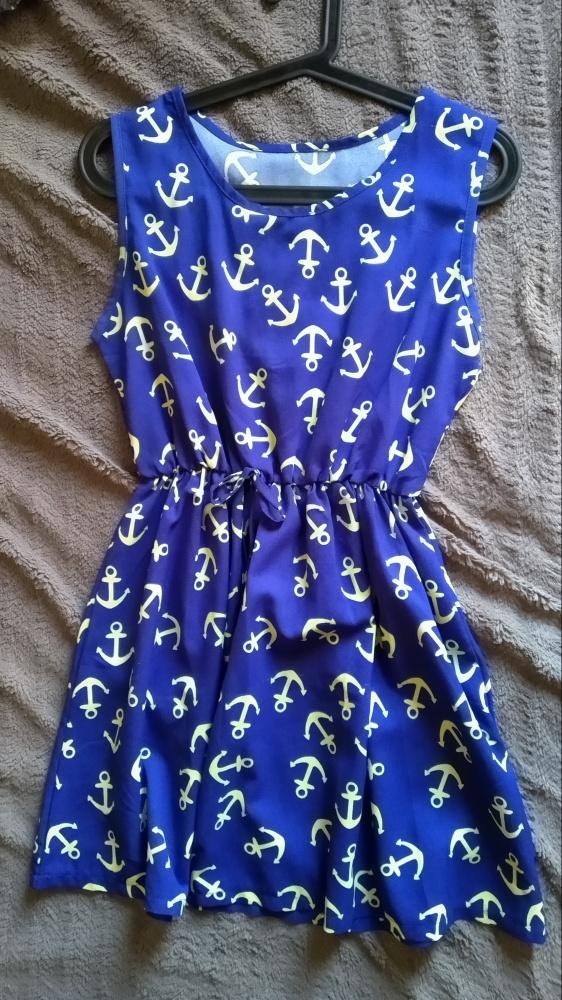 letnia sukienka w kotwice
