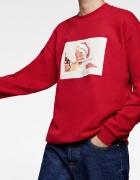 Zara nowa męska bluza z motywem świątecznym mikołaj Coca Cola r...