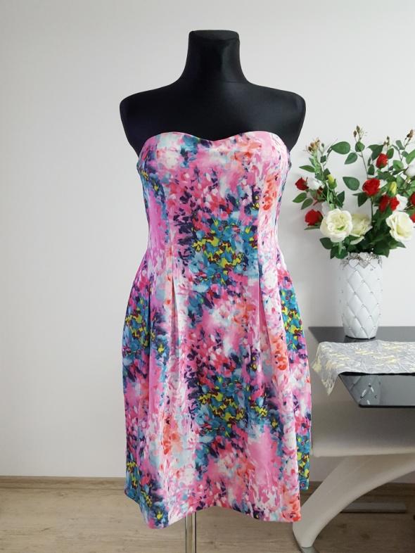 kolorowa sukienka BooHoo
