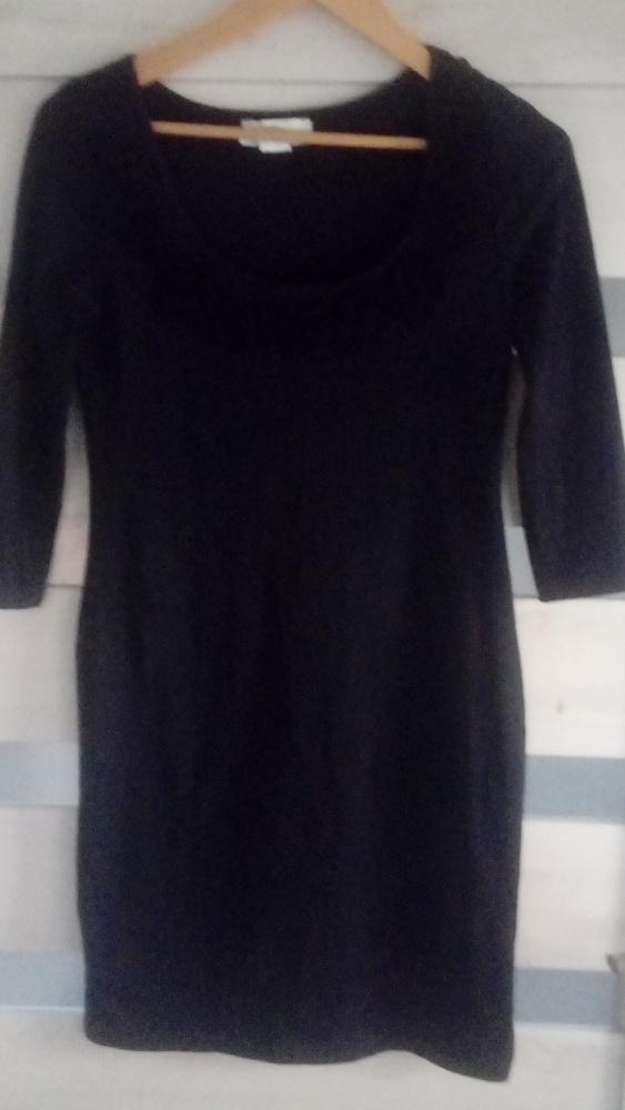 czarna bawełniana wygodna sukienka M lub L