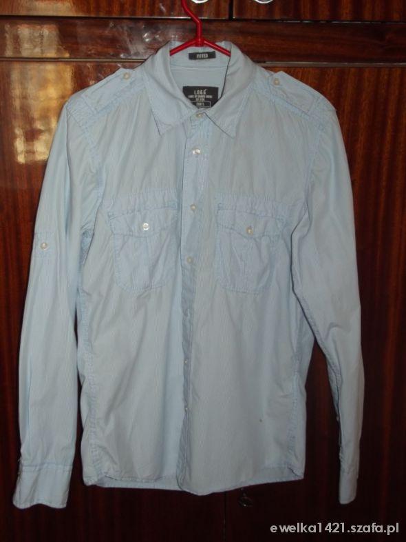 niebieska koszula męska h&m