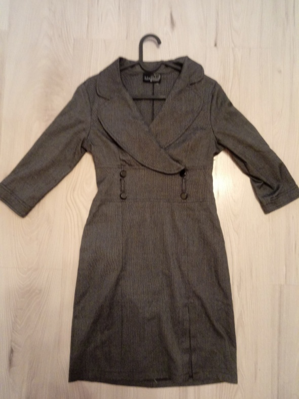Sukienka biznesowa biurowa elegancka szara