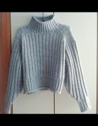 Szary gruby sweterek HM 34...