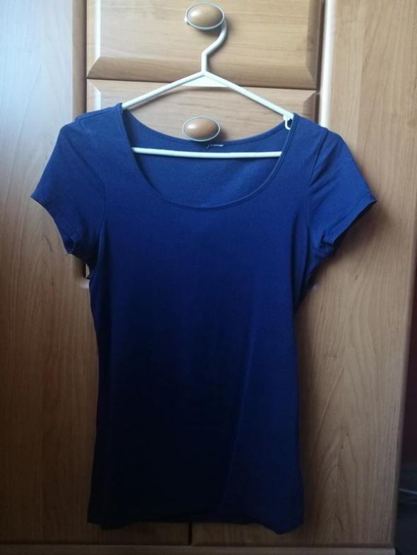 Granatowa bluzka basic H&M s...