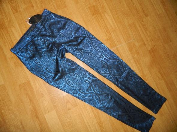 AD LIB efektowne spodnie WZOREK roz 36