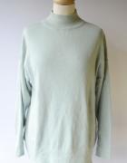 Sweter Oversize Miętowy Golf Gina Tricot M 38 Luzny...