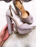 Nowe sandałki szare rozmiar 35