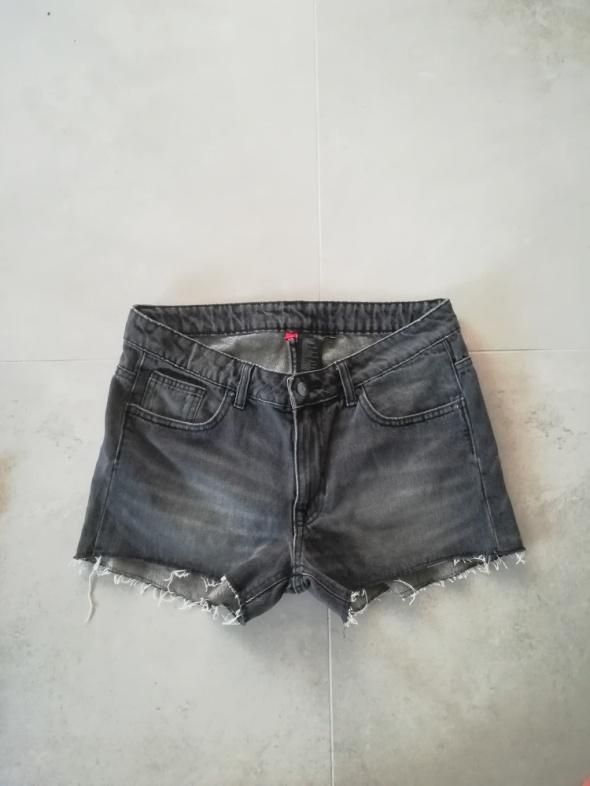 Spodenki Modne spodenki jeans wysoki stan L