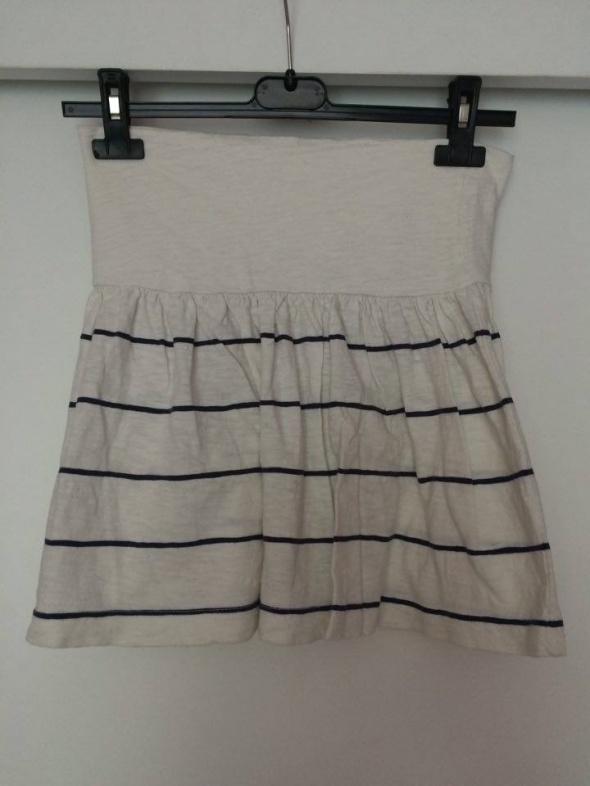 Spódnice Pull&bear krótka biała marynarska spódniczka paski