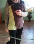 kolorowy świetny sweter...