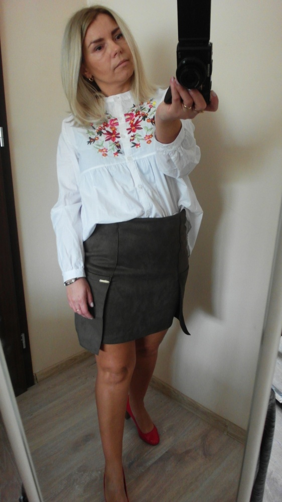 Nowa zamszowa spódnica