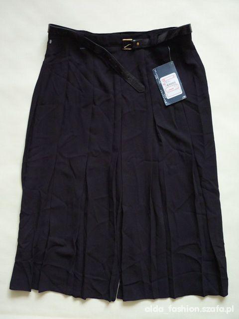 C A czarna spódnica szerokie plisy PASEK 48 NOWA
