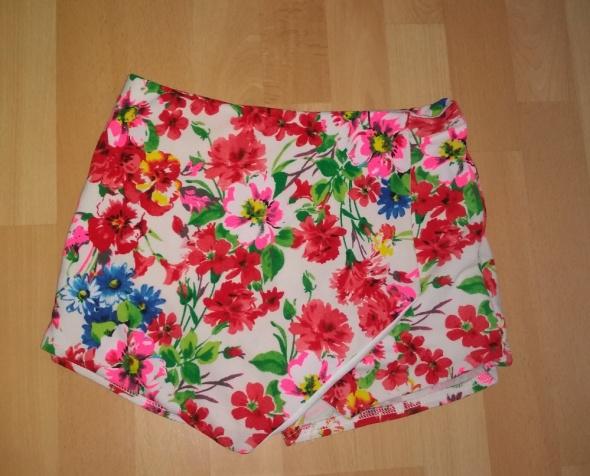 Spódnica spódnico spodnie w kwiaty S