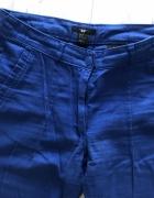 HM H&M jeansy granatowe wysoki stan 36 S rurki spodnie niebiesk...