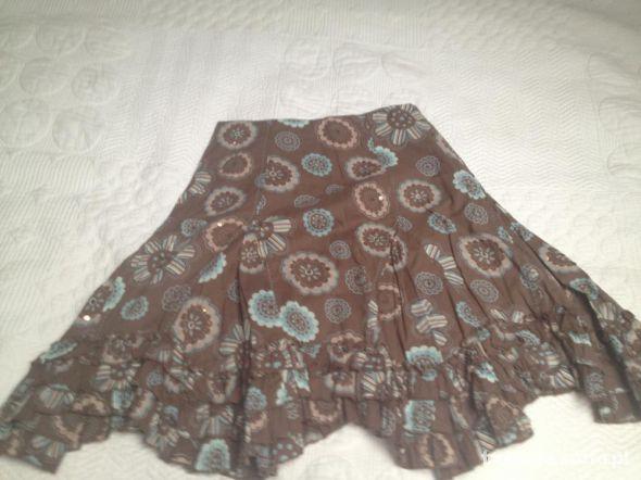Spódnice asymetryczna brazowa spódniczka