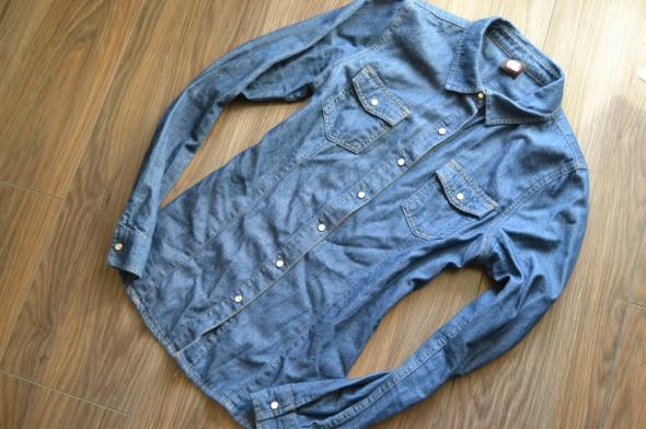 Koszule ciemna jeansowa dżinsowa koszula zara 36 38