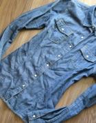 ciemna jeansowa dżinsowa koszula zara 36 38