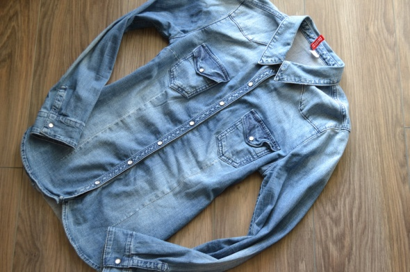 H&M jeansowa dżinsowa koszula napy 40 42
