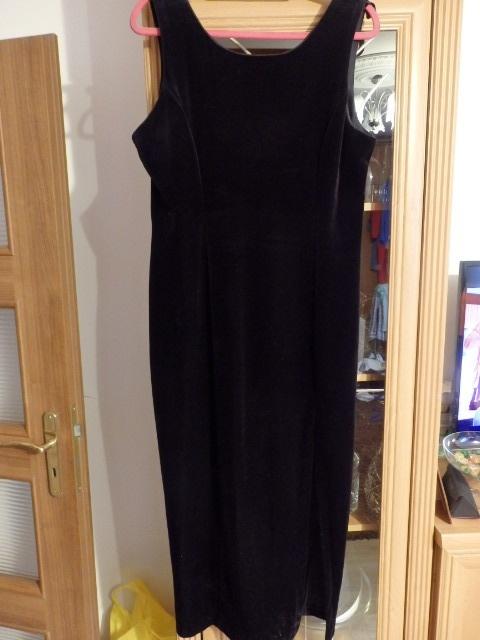 Suknie i sukienki mała czarna welurowa perełka