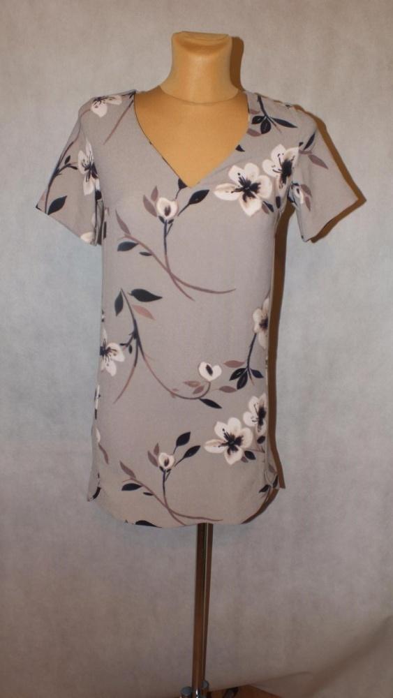 Bluzki Beżowa tunika sukienka next kwiaty Rozmiar 34