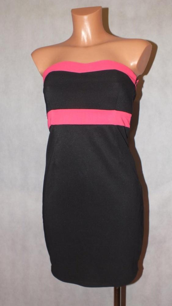 Czarna dopasowana sukienka Amisu Rozmiar 34