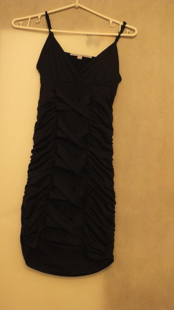 Czarna dopasowana sukienka Mini Rozmiar 34